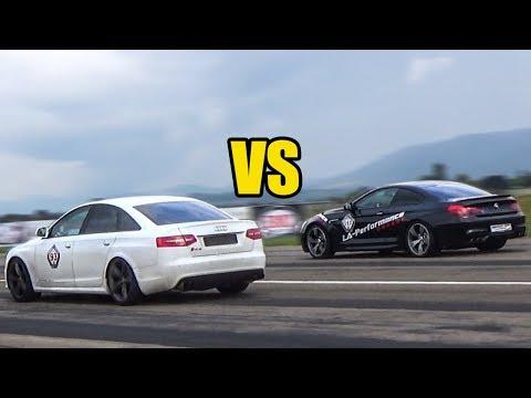 BMW M6 Vs Audi RS6 Sedan - RACE!