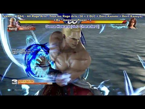 Tekken 7 - All Rage Arts (36 + Eliza + Geese + Devil Kazumi + Devil Kazuya).