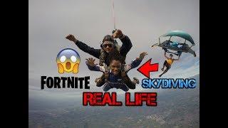 FORTNITE SKYDIVING IN REAL LIFE? - Skydiving in Europe