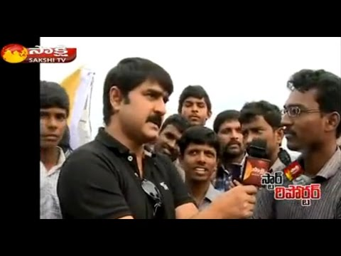Sakshi Star Reporter : Actor Srikanth with Hudhud Victims