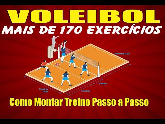 VOLEIBOL COMO MONTAR TREINOS PASSO A PASSO COM MAIS DE 170 EXERCÍCIOS