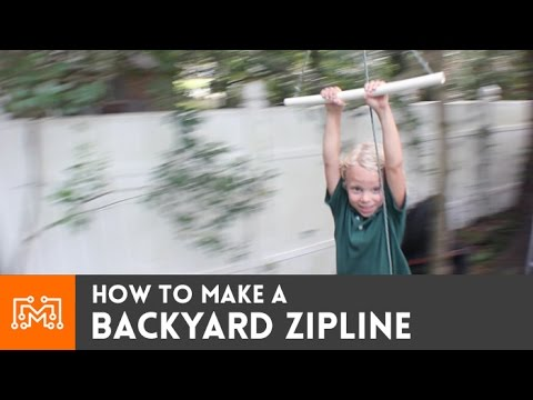 How to make a backyard zipline  YouTube