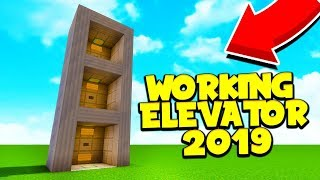 How to Make an ELEVATOR in Minecraft PE (No Redstone, No Commands, No Addons, No Mods )