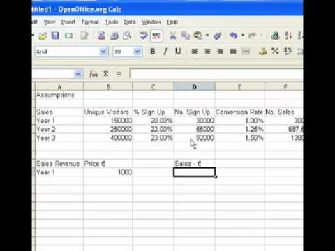 Financial Projections Example Pt. 1 (Sales Assumptions) - YouTube