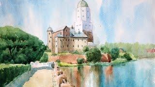 Видео урок 2 - живопись акварелью
