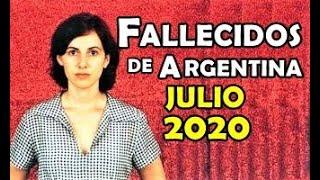 Figuras Fallecidas de Argentina en Julio del 2020.