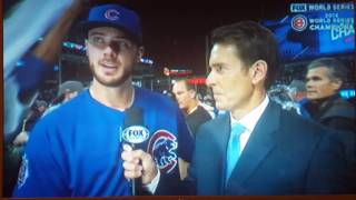 Kris Bryant World Series post game interview