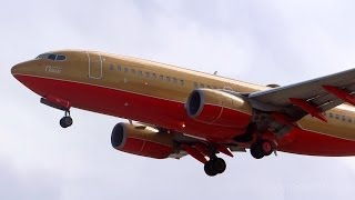 HD RARE Southwest Classic Boeing 737-7H4 Landing at San Jose International Airport