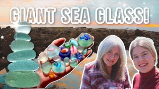 Sea glass JEWELS!! A peaceful beachcomb on our favourite sea glass beach.