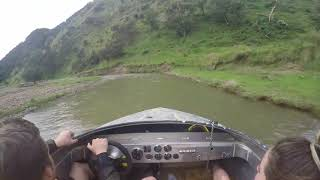 Guy Rides Motorboat in Shallow Rivers