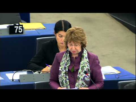 Catherine Ashton on Common Foreign and Security Policy at the European Parliament