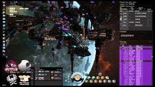 EVE online SERENITY sever 4 Titans down