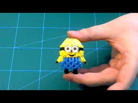 3D Origami small minion  tutorial | DIY paper small minion