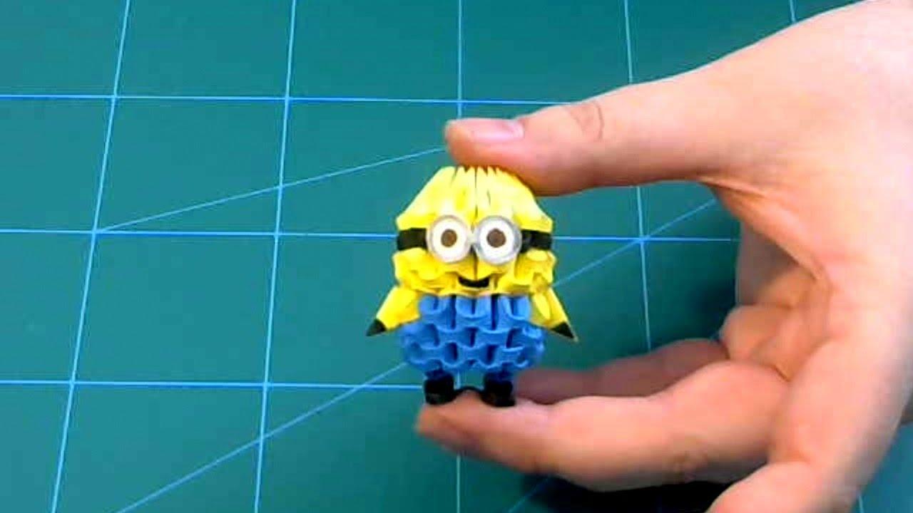 3D Origami Small Minion Tutorial