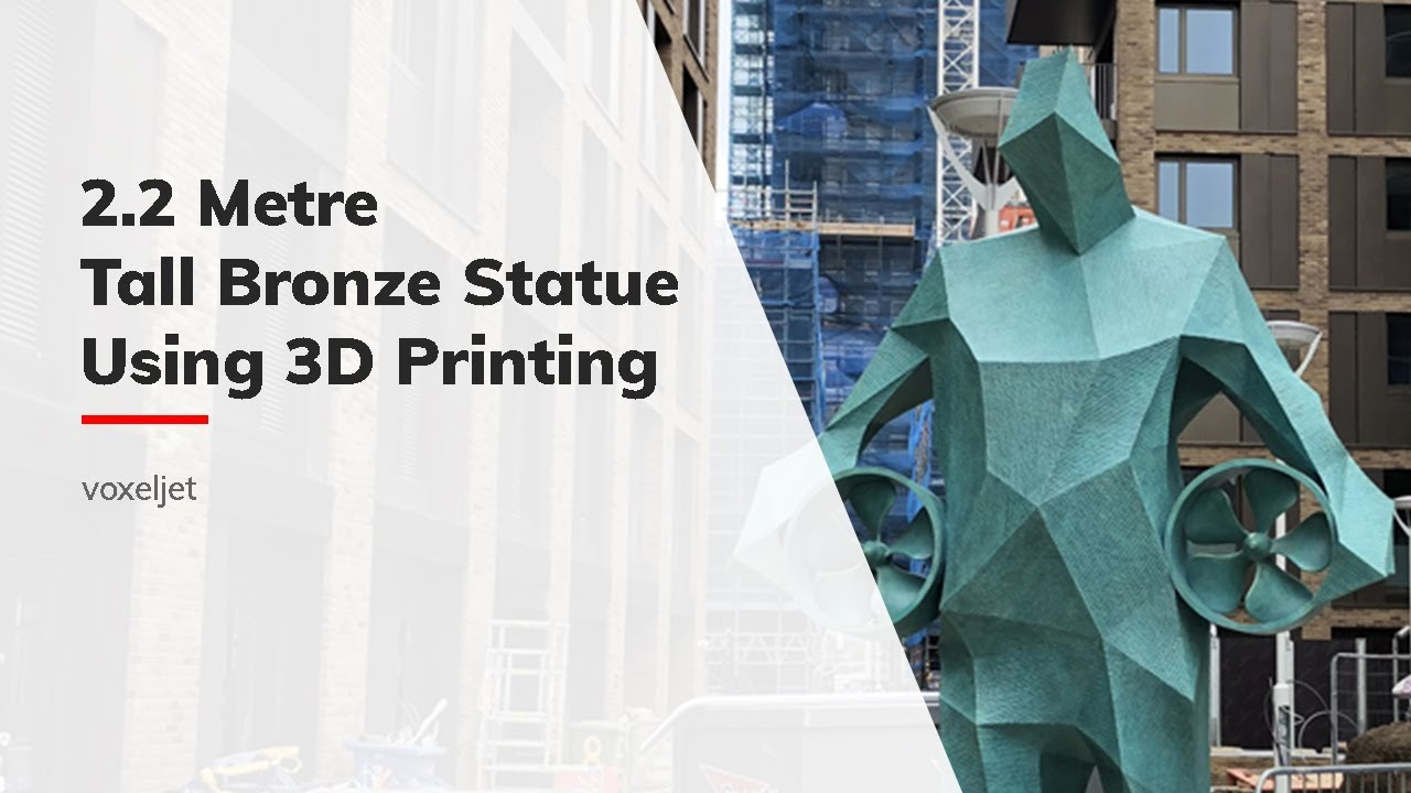 Creating 2.2-metre tall bronze statue using 3D printing technology