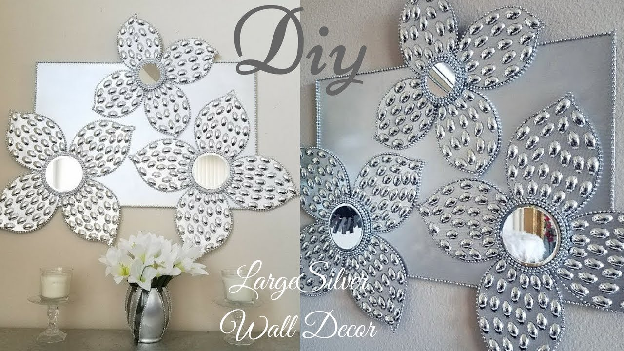 Diy Large Silver Wall Decor Using Dollar Tree Items|Simple And Inexpensive Wall  Decor!