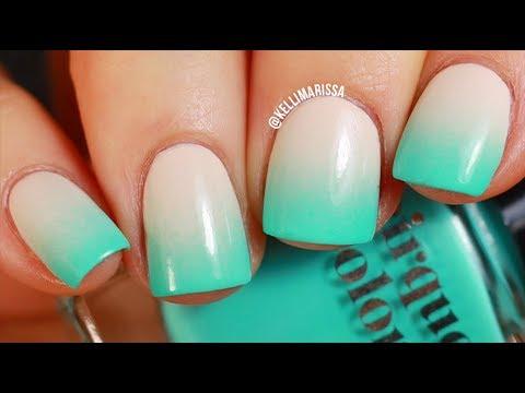 Easy Summer Neon Gradient Nail Art Design Tutorial || KELLI MARISSA ...
