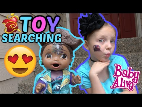 BABY ALIVE goes TOY SEARCHING for DESCENDANTS merch! The Lilly and Mommy Show! The TOYTASTIC Sisters