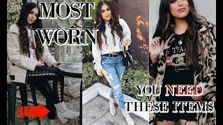 MOST WORN ITEMS IN MY WARDROBE 2018: FASHION I'M OBSESSED WITH
