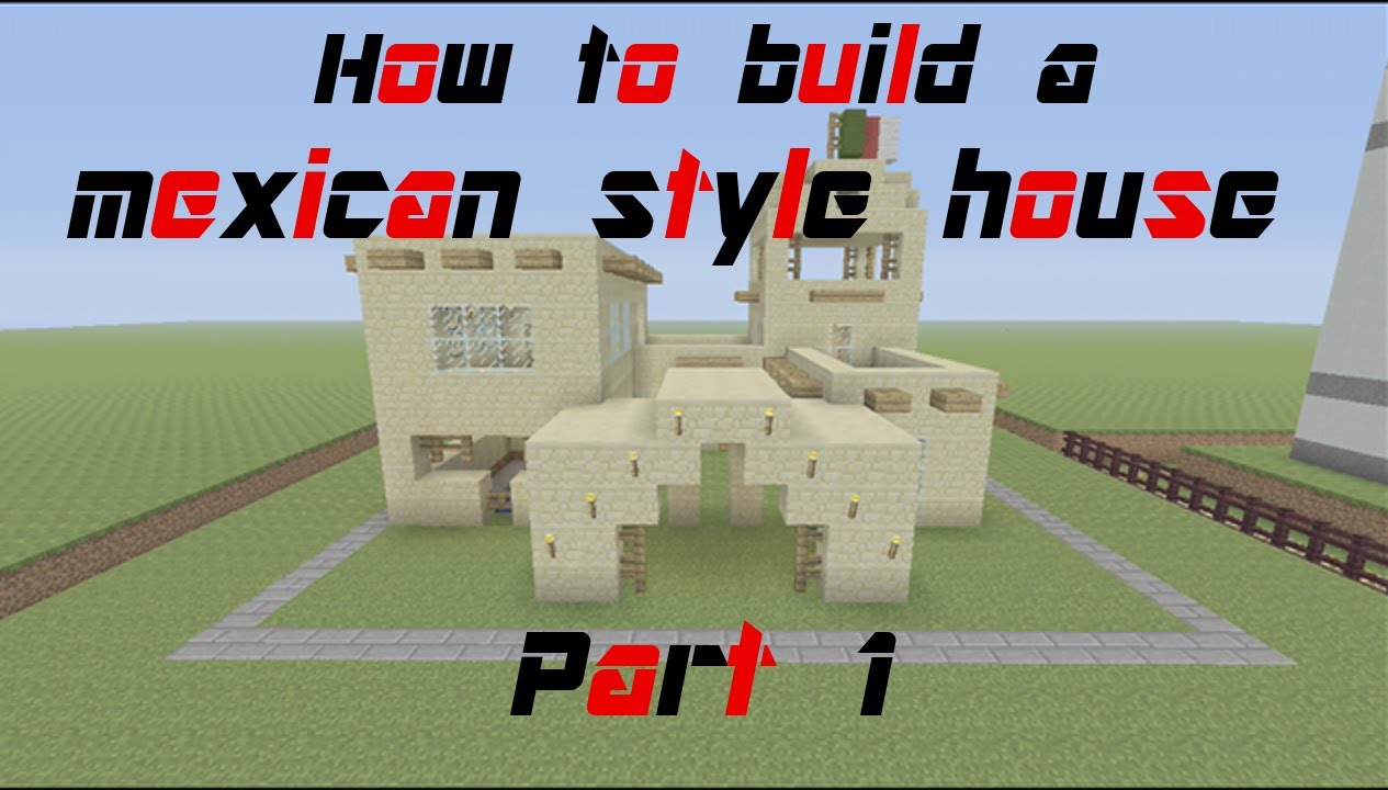 Minecraft tutorial how to build a mexican style house for How to build a ranch house