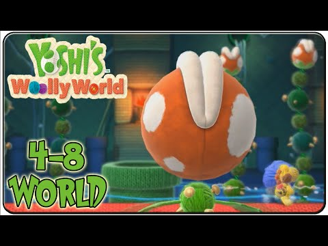 Yoshi's Woolly World 100% Walkthrough World 4-8 Naval Piranha's Sewer