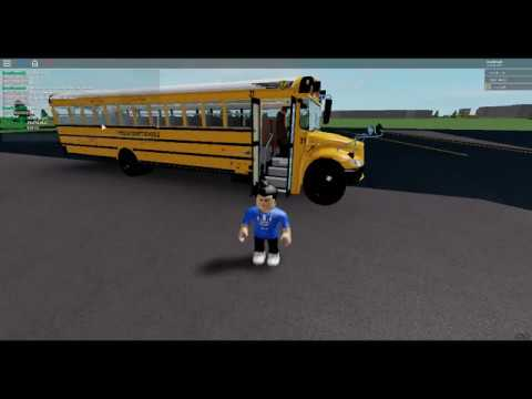 Being A Bus Driver School Bus Simulator Roblox Youtube