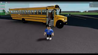 BEING A BUS DRIVER - SCHOOL BUS SIMULATOR - ROBLOX