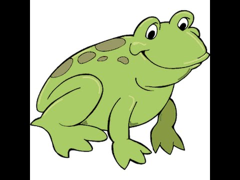 How to Draw a Cartoon Frog - YouTube