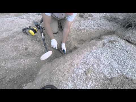 Metal Detecting Gold Prospecting With a Gold Bug 2 in Arizona