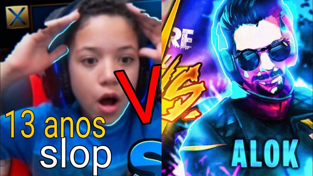 ALOK vs SLOP - DJ FAMOSO CONTRA PRO-PLAYER 12 ANOS FREEFIRE