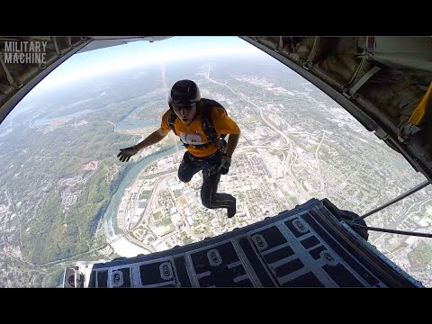 "U.S. Navy Parachute Team ""The Leap Frogs"" Jump into Neyland Stadium"