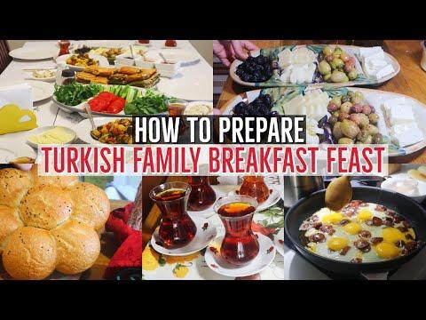 Turkish Family Breakfast Feast