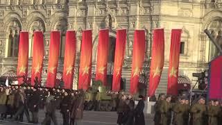 Торжественный Марш 7 ноября 2018 на Красной Площади
