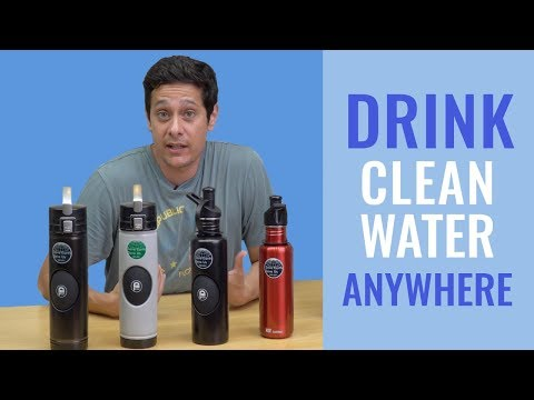 Drink Clean Water Anywhere with the Ripuri Stainless Steel Purifying Water Bottle