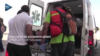 Un simulacro de accidente aéreo llenó de acción el aeropuerto