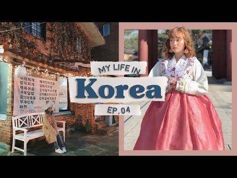 Wearing Hanbok at -6 °C, Bok Chicken, Hongdae | vlog.10 | KOREA VLOG EP.04