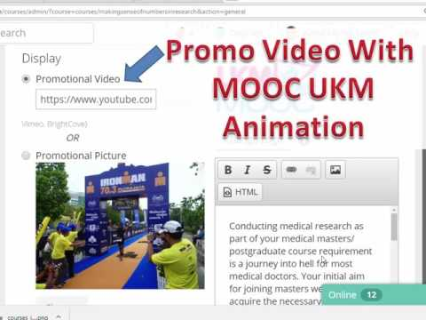 How to get your MOOC course listed on UKM official MOOC Page