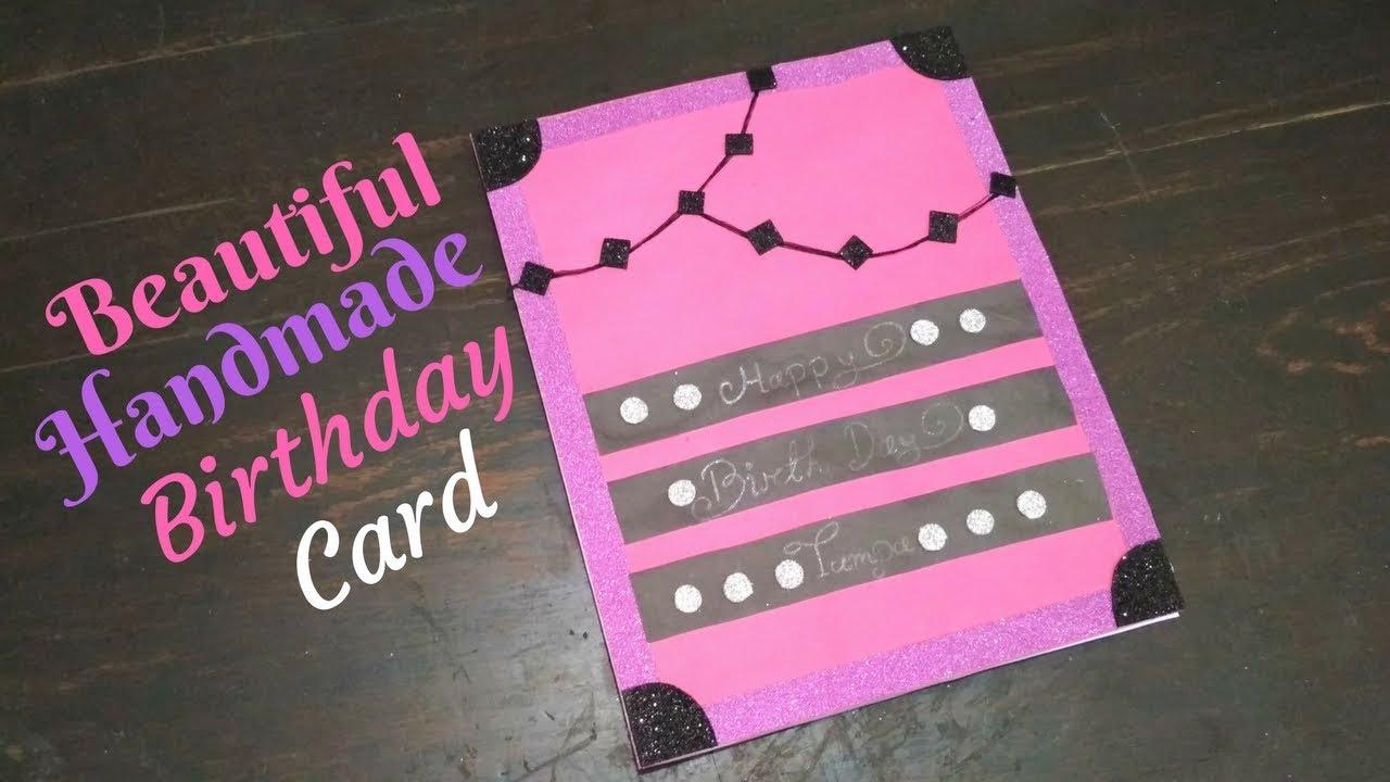 Beautiful Handmade Birthday Card For Friends Cute Easy Greeting