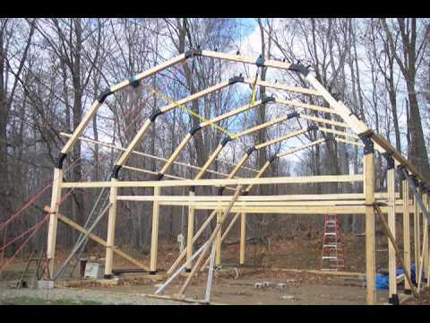 Build a garage workshop pole barn house youtube for How to build a pole barn plans for free