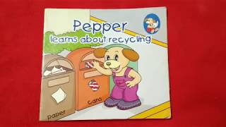Pepper Learns About Recycling.Plastic Ban Learn How To Make Paper Bags. Swachh Bharat Mission