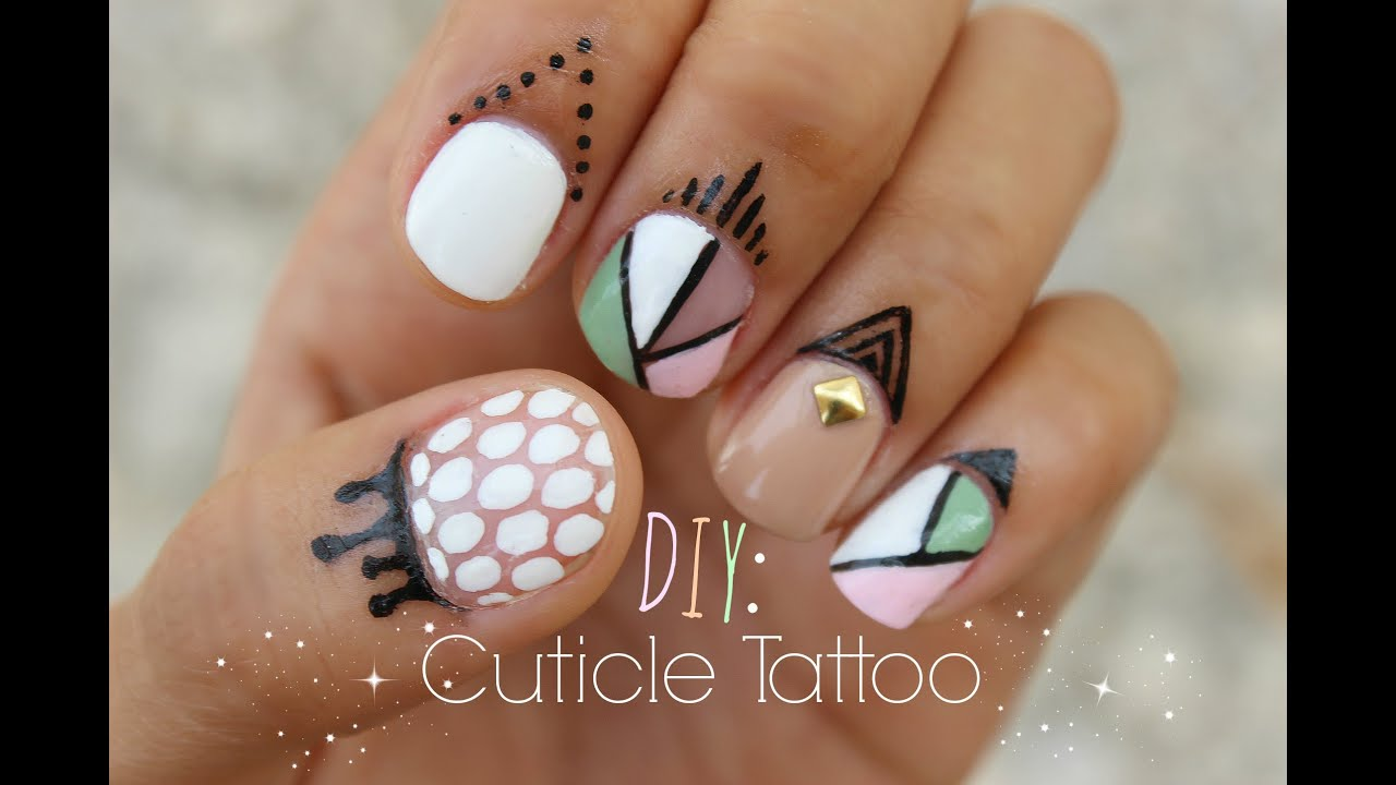 DIY: Make Your Own CUTICLE TATTOO??! - YouTube