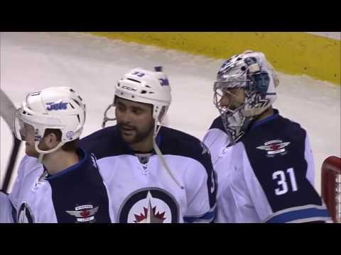 Game Day Action GDA-15 Dustin Byfuglien Winnipeg Jets VS San Jose Sharks