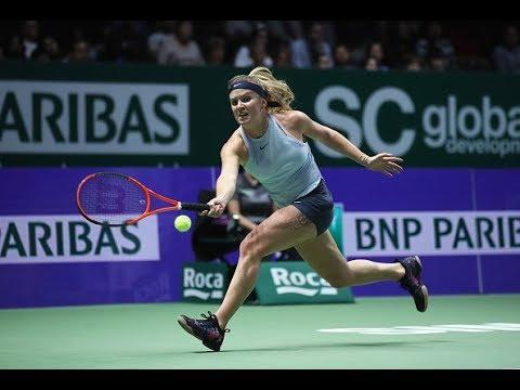 2017 WTA Finals Round Robin | Simona Halep vs. Elina Svitolina | WTA Highlights