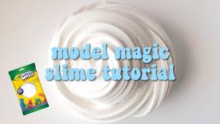 HOW TO MAKE FLUFFY BUTTER SLIME W MODEL MAGIC
