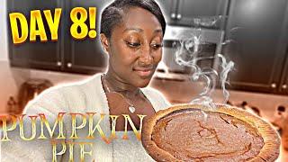 Made pumpkin pie from scratch!