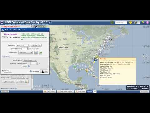 NWS Enhanced Data Display (EDD) Marine Travel Hazard Forecast