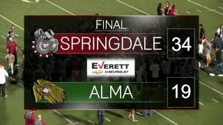 Springdale Bulldog Football   Alma vs. Springdale
