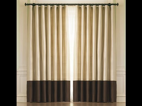 Thrifted Diy How To Make Your On Two Tone Drapes Youtube