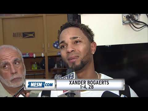 Xander Bogaerts Reacts After Red Sox Loss Vs. Phillies