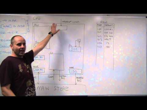 Fetch execute walk-through using a simplified processor model